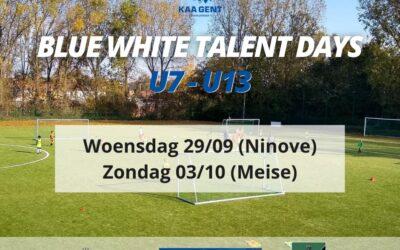 Blue White Talent Days